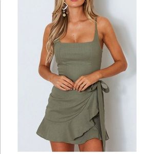 White Fox Boutique Wrap Mini Dress NWT